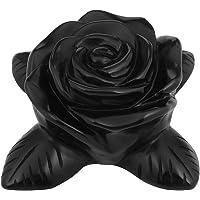 火箭云*水晶天然宝石球潜水球木架 Black Obsidian Rose Flower RCZ0000337