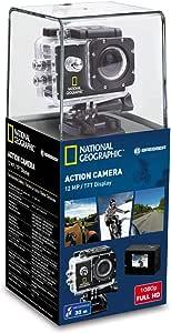 National Geographic 国家地理 全高清运动相机,12 MP,140° 广角镜头,1920 x 1080 Px 视频分辨率,USB 2.0,1.5 英寸 TFT 屏幕,防水外壳和多种安装配件