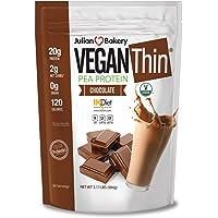 Julian Bakery 素食薄蛋白粉,巧克力,20克豌豆蛋白,2瓶净化剂,2磅(约2公斤),30份