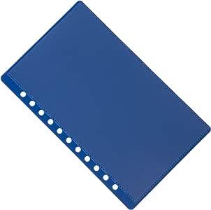 11 孔 Aerobind QRH 盖 - 6.92 英寸宽蓝色刚性飞行员支票表盖带附加口袋 - 每包 2 蓝色