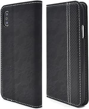 Plata 花边设计皮革保护壳 黑 1_iPhone X