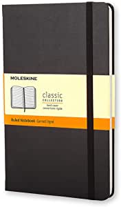 Moleskine 黑色横间笔记本(大型)