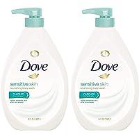 Dove 沐浴露,敏感肌肤泵 34 盎司 2片装