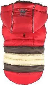 Hip Doggie HD-5STRD-XS 软条纹羽绒服 红色 XS 码
