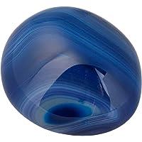 rockCloud 椭圆烦恼石,手掌口袋能量石,*水晶带天鹅绒袋 Dyed Blue Agate RCZ0010821