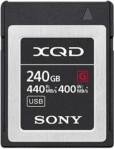 Sony 索尼 Professional 32GB XQD 内存卡 G 系列(读取速度高达440MB/s )带文件救援软件QD-G240F 240GB