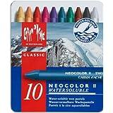 Caran d'Ache Classic Neocolor II Water-Soluble Pastels, 10 C…