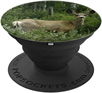 Deer in the Woods Hunters and Sportman - PopSockets 手机和平板电脑抓握支架260027  黑色