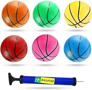3 只水獭 12 英寸迷你玩具篮球,6 只装儿童篮球