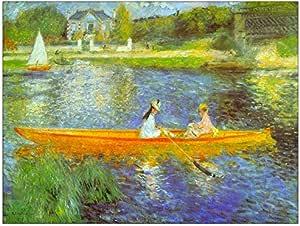 "ArtPlaza""Renoir Pierre-Auguste - The Seine 装饰面板,木质,多色,80 x 1.8 x 60 cm"