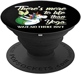 瑜伽独角兽美人鱼趣味引言幽默语冥想禅宗流行袜子手机和平板电脑握架260027  黑色