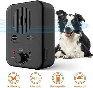 吠叫控制装置 - 迷你防吠设备户外超声波狗声波狗止吠器止吠器止吠器止吠器,消声器装置 USB 可充电,32 英尺有效,* 宠物和人类*