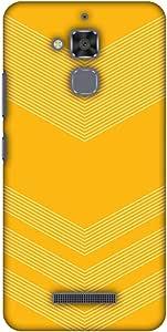 AMZER Designer 超薄卡扣式硬壳带屏幕护理套件适用于华硕 ZenFone 3 Max ZC520TL 高清彩色,超轻背壳AMZ601040361157  Carbon Fiber Redux Cyber Yellow 2