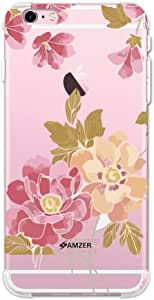 AMZER Designer 超薄 TPU X 保护软凝胶手机壳后盖皮肤适用于 iPhone 6 Plus/6S PlusAMZ301040686101  Poster Floral and Textured Leaves- Begonia