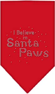 Santa Paws 莱茵石头巾 红色 小号