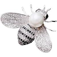 SHANLIHUA 女士花朵胸针女士贝壳珍珠*别针配件白金