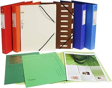 Exacompta 文件夹(可回收 PP,Forever,松紧带,可伸缩口琴背,9个隔层)1件 各种颜色
