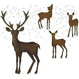 Sizzix Thinlits 模具套装 5 片装 - Winter Wonderland Tim Holtz,碳钢,多色,19.1 x 14.4 x 0.4 厘米