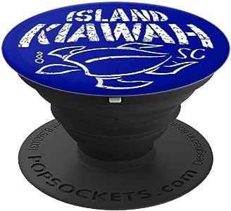 Kiawah Island 海龟旅行纪念品 旅行 SC PopSockets 手机和平板电脑握架260027  黑色
