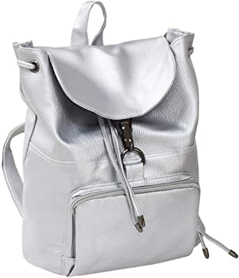 LassZone 少女皮革背包,学院风复古书包背包