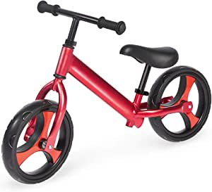 Pinolino 滑板车,铝,不可降落轮胎,把手和马鞍无级可调高度,适合3 – 5岁儿童,红色