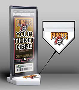 MLB Pittsburgh Pirates Home Plate Ticket Display Stand, One Size, Multicolored