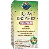 Garden of Life 女性素食补充剂 - 酵素 针对胃胀,胃热 和肠易激综合征(IBS),90粒胶囊