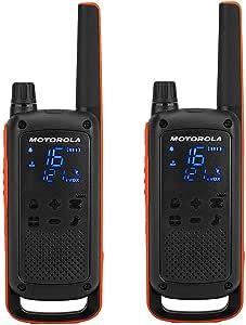 摩托罗拉 TLKR T82 PMR 无线电 (高达10 km 范围, IPX2防水, 500 mW, VOX)