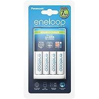 Panasonic 松下 eneloop 智能高端充电器 带 4 × eneloop AA 电池 适用于 1 - 4 节…
