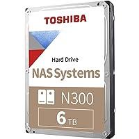 TOSHIBA 东芝 N300 6TB NAS 3.5英寸内部硬盘驱动器 CMR SATA 6 GB/s 7200 RP…