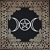 "Altar Tarot Cloth: Triple Goddess With Pentagram - 24"" x 24…"
