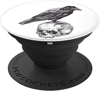 Black Crow 死亡鸟 - 万圣节 10 月 31 日 - PopSockets 手机和平板电脑握架260027  黑色