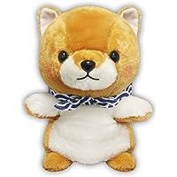 "Amuse 流行系列毛绒玩偶 9 英寸日本进口填充动物玩具舒适可爱蓬松 9""x 8""x 6"" 棕色"