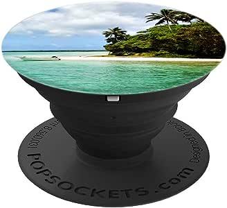 海滩海洋波浪:热带手机支架把手 - PopSockets 手机和平板电脑握架260027  黑色