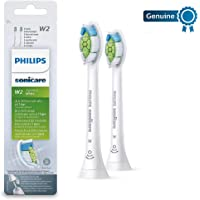 Philips 飞利浦 Genuine Sonicare Optimal 原装白色电动牙刷替换刷头,2件装,白色-HX6062 / 12