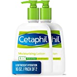 Cetaphil 丝塔芙 适用于所有皮肤类型,身体和面部保湿乳液,16液体盎司/473毫升(2件)