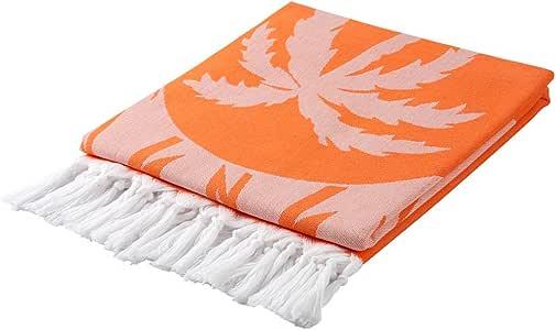 Cacala 棕榈系列 - 土耳其口感和毛巾 橙色 PES-PALM