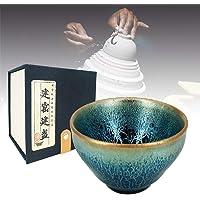 中国古代手工制作茶杯,仿传统歌曲王朝简流,天元黑釉蛋白纹,茶杯和咖啡 Kirin's Thunder 6.5 CM/2…