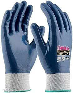 Orma 工作手套,白色/蓝色 16909GO070