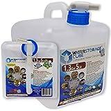 WaterStorageCube,无 BPA 可折叠水容器 带Spigot,露营储水袋,适合户外徒步飓风紧急情况,可折叠…