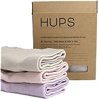 HUPS 和朴 三条装 女式竹纤维棉中腰中等厚度护宫暖宫无缝三角内裤 混色 特惠价