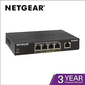 NETGEAR 千兆位不可控制的交换机 黑色 5 Port Gigabit + PoE