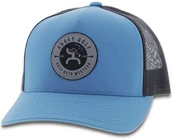 HOOEY 男式蓝色高尔夫标志贴布帽蓝色均码