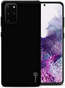 CoverON TPU 橡胶 FlexGuard 系列三星 Galaxy S20 Plus 手机壳B457-CO-SAGS20PLUS-TPU6-BK 亮黑色