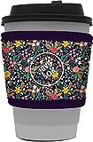 Java Sok 可重复使用热咖啡杯隔热套,适用于星巴克咖啡、麦唐纳兹、邓肯甜圈等 English Garden Pic…