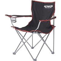 CAPTAIN STAG鹿牌户外椅子 JILL 圆形椅 M-3846 带杯架