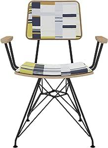 NyeKoncept 82SC9893379 Mid-Century 餐椅,黑色/白色
