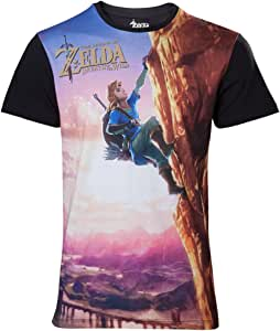 """The Legend of Zelda Breath of The Wild - All Over Link Climbin T 恤 多色 Extra Large (Mens 42""""- 44"""") 多色 标准"""