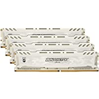 Ballistix Sport LT 4GB 单个 DDR4 2400 MT/s (PC4-19200) DIMM 288-Pin - BLS4G4D240FSE(红色)BLS4K16G4D32AESC 3200 MT/S CL16 64GB Kit (16GBx4) DR
