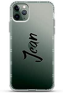 名称:Jean,手绘风格 | 奢华航空系列透明手机壳带 3D 打印设计和气垫适用于 iPhone 11 MAX